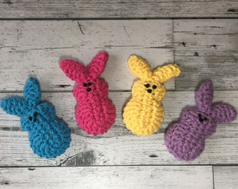 Easter Peeps Crocheted- Amigurumi Bunny - Marshmallow Bunny - Crochet Easter Bunny