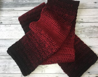 Crochet Scarf - Multicolor Scarf - Handmade Scarf - Ombre Scarf - Winter Scarf - Crochet Winter Wear
