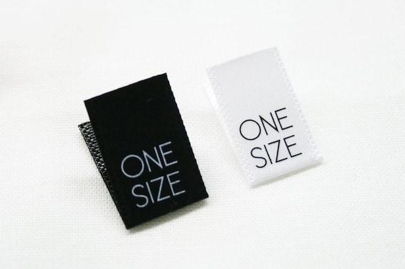 XS S M L XL 125 PCS WHITE WOVEN CLOTHING SEWING SIZE LABEL 25pcs each size