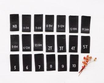 Clothing Size Labels Etsy