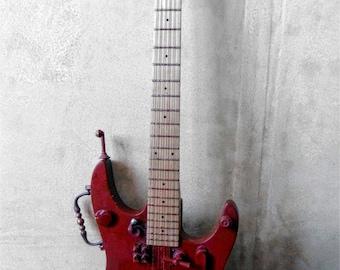 Deco guitar, Jules Verne, guitar, steampunk