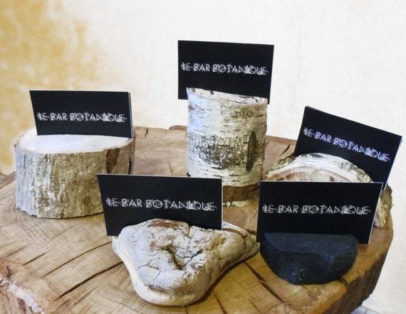 Support Carte De Visite En Bois Bouleau Flott