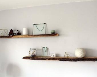 Wooden shelf, oak shelf, bark shelf, raw wood, board, library, Shelf wood, shelf oak, shelf bark, raw wood, board, library