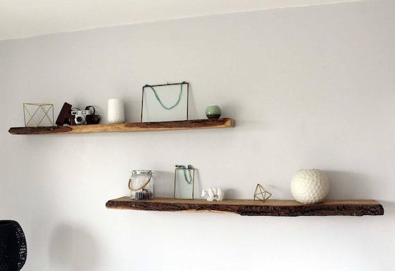 tag re bois tag re ch ne tag re corce bois brut etsy. Black Bedroom Furniture Sets. Home Design Ideas