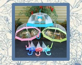 SALES Custom Personalized Umbrella, Monogrammed Umbrella, Clear Umbrella, Dome Umbrella, Bridesmaid Gift, Ladies Umbrella