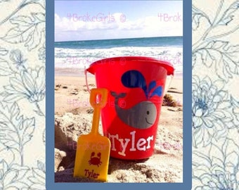 Personalized Beach Bucket Cruise Bucket Sand Bucket Fun in The Sun Beach Pail bucket w/shovel Bucket of Fun Birthday Bucket Easter Bucket