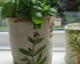 Fabric  plant pot cover storage container