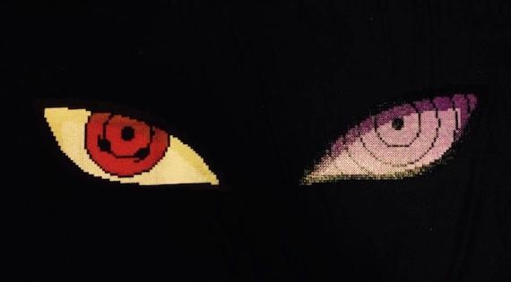 naruto perler rinnegan and sharingan eyes etsy