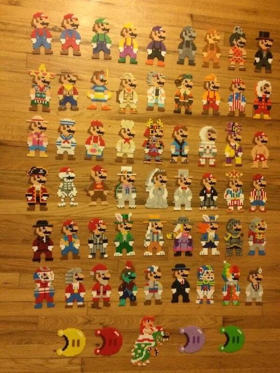 Super Mario Odyssey Perlers Etsy