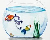 Items Similar To Paper Quilling Fish In The Aquarium On Etsy