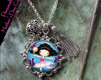 Children's Artwork Necklace - Personalized Charm Necklace - Child's Art work Photo Charm Pendant