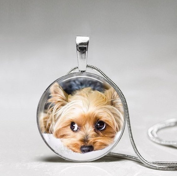 Yorkie necklace dog necklace puppy necklace yorkshire etsy image 0 aloadofball Image collections