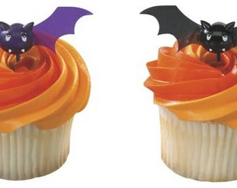 Halloween Bats - Cupcake Picks - 12 Count