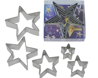 Stars Cookie Cutter Set - Set of 5 - 1988/B