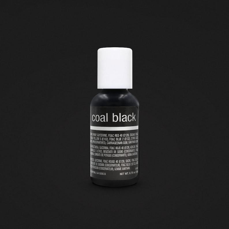 Coal Black Chefmaster Food Coloring Gel .70 oz 20g | Etsy
