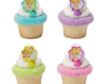 Tinker Bell - I Believe in Fairies Cupcake Rings - 24 Rings