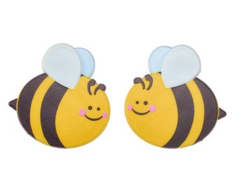 Bumble Bee Layon Cake Topper - 2 Bees