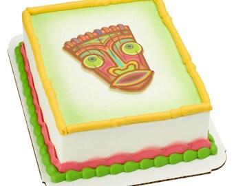 Tiki Polynesian Flair Layon Cake Topper