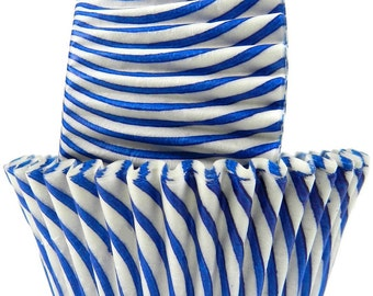 Blue Stripes - Baking Cupcake Liners - 50 Count