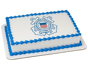 US Coast Guard Logo - Edible Image - 6 1/4""