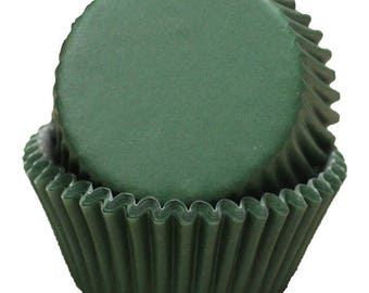 Dark Green Cupcake Liners - 50 Count