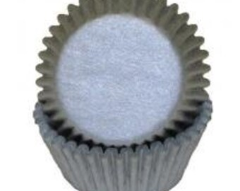 Silver Cupcake Liners - 50 Count