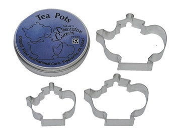Tea Pot Cookie Cutters - Set of 3 - 1924
