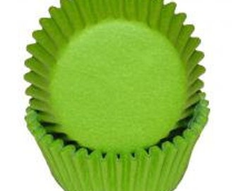 Lime Green Cupcake Liners - 50 Count