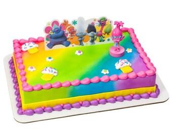 Trolls Poppy Show Me a Smile Cake Topper