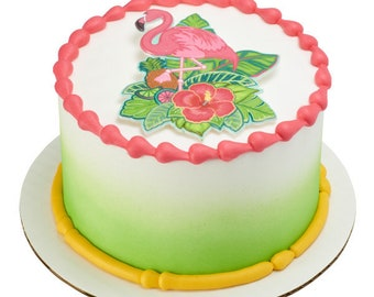 Flamingo Layon Cake Topper