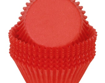 Red Cupcake Liners - 50 Count