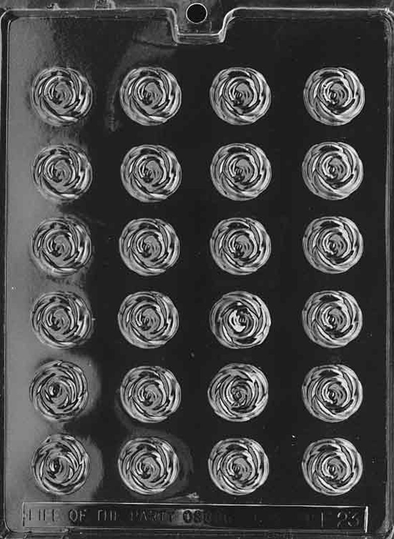 Mini Roses Chocolate Mold  F023  Includes Melting & image 0