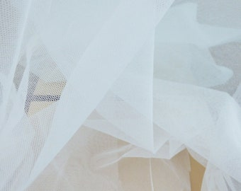 """Cotton Bobbinet - Cotton Tulle - English Net - Cotton Netting - Cotton Veiling - Wedding - by the yard - 42"""" Wide - EP Cotton #218"""