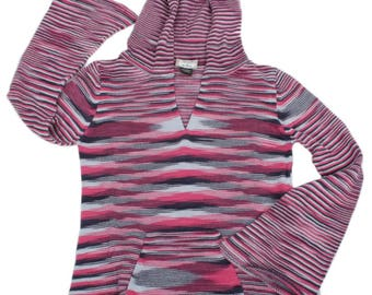 INKASSOUL Solid WOMEN's SWEATER (Pink/Blue) - Andean Trends (free shipping)