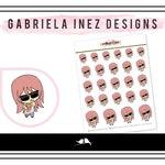 Hand Drawn Popcorn Bae Lexie Planner Stickers - Perfect for Erin Condren Life Planner, Happy Planner, Bullet Journal, Traveler's Notebook