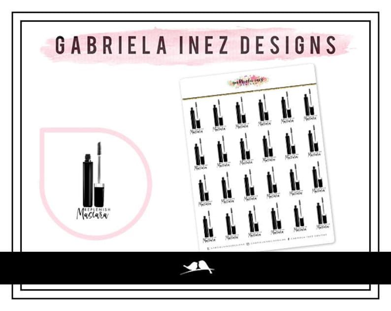 Replenish Mascara Planner Stickers  Perfect for your Erin image 0