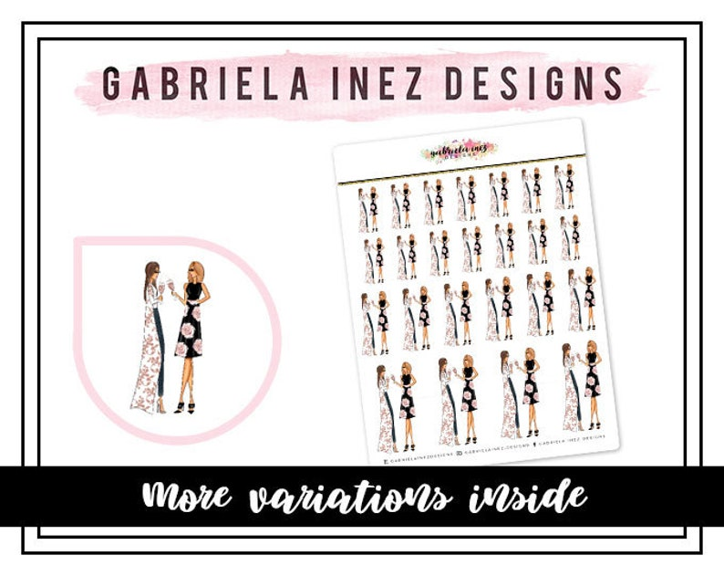 Girl Time Planner Stickers  Perfect for your Erin Condren image 0