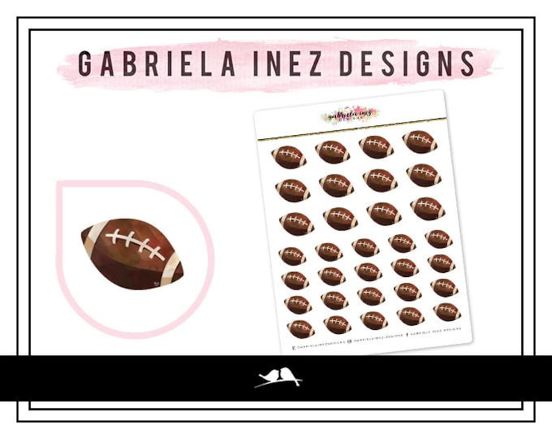 Football Planner Stickers  Perfect for your Erin Condren Life image 0