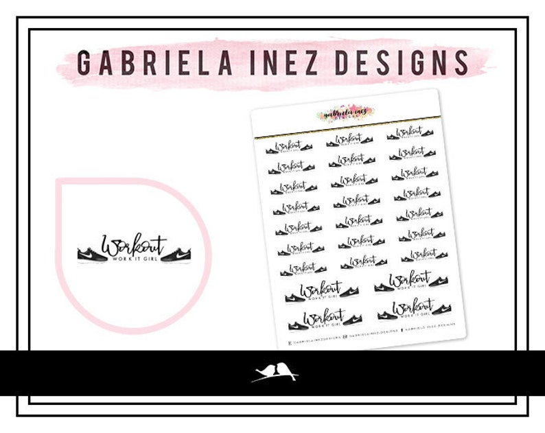 Workout Girl Planner Stickers  Perfect for your Erin Condren image 0