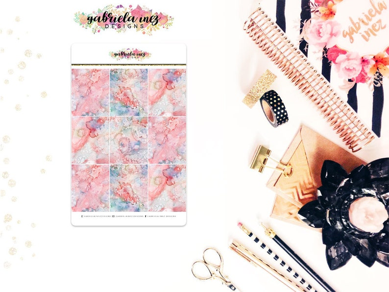 Pink Marble Full Box Planner Stickers  Perfect for your Erin image 0