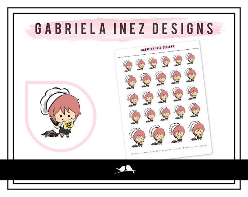 Lexie Cooking Fail Planner Stickers Perfect for Erin Condren image 0