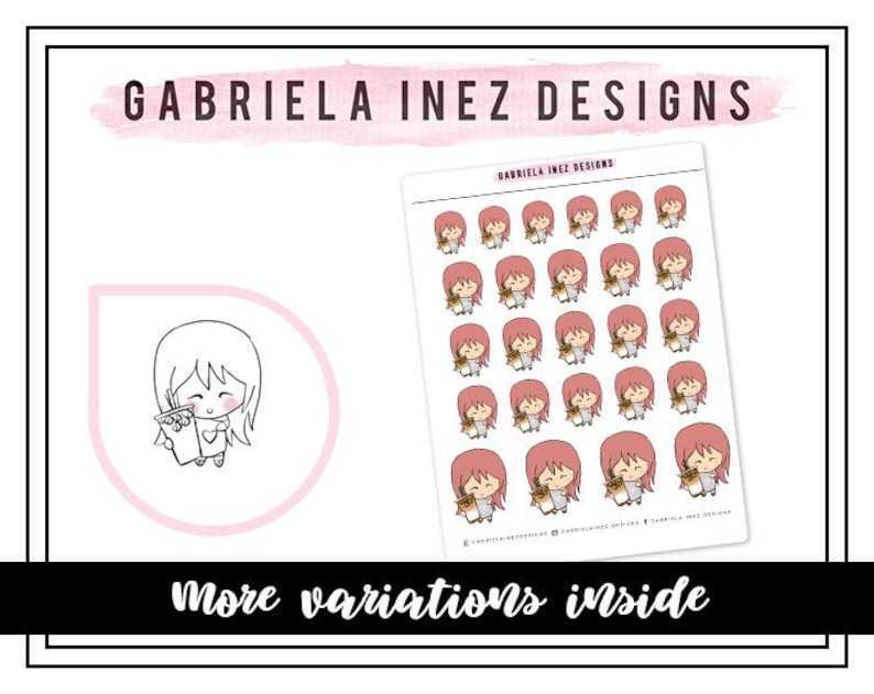 Iced Coffee Lexie Planner Stickers Perfect for Erin Condren image 0