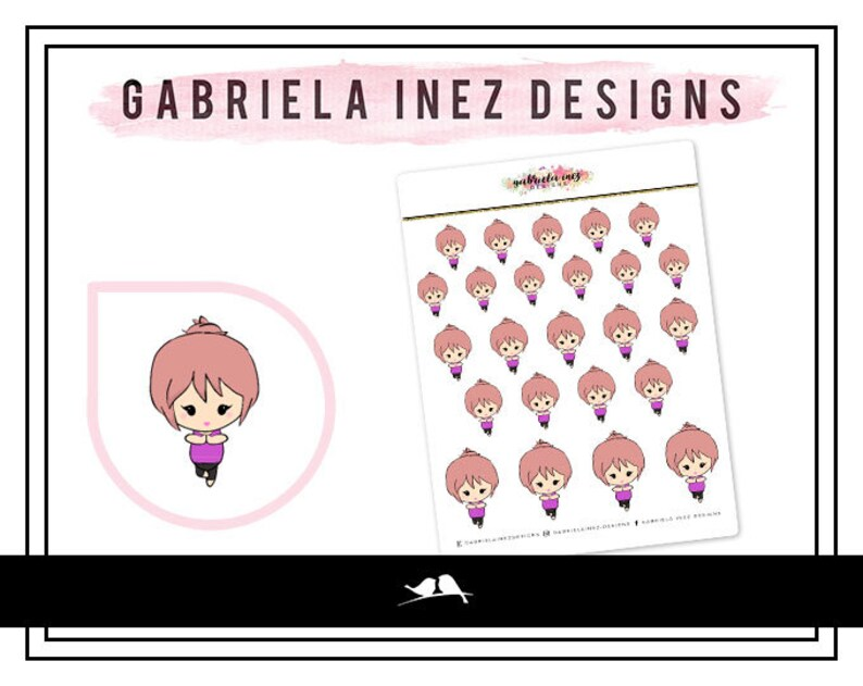 Namaste Lexie Planner Stickers  Perfect for your Erin Condren image 0