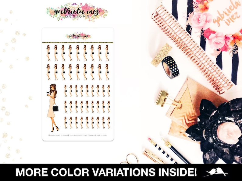 Lady Boss Planner Stickers  Perfect forErin Condren Life image 0