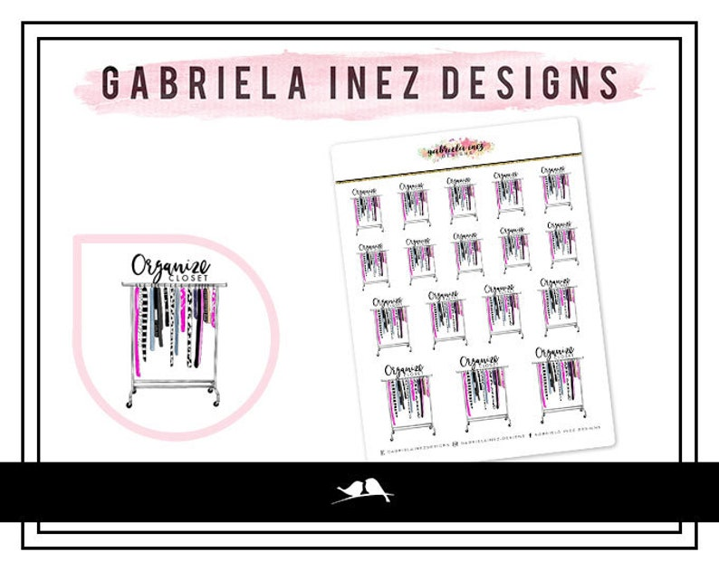 Organize Closet Planner Stickers  Perfect for your Erin image 0