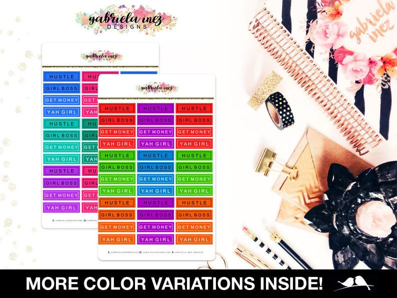 Clean & Classy Girl Boss Labels Planner Stickers  Perfect image 0