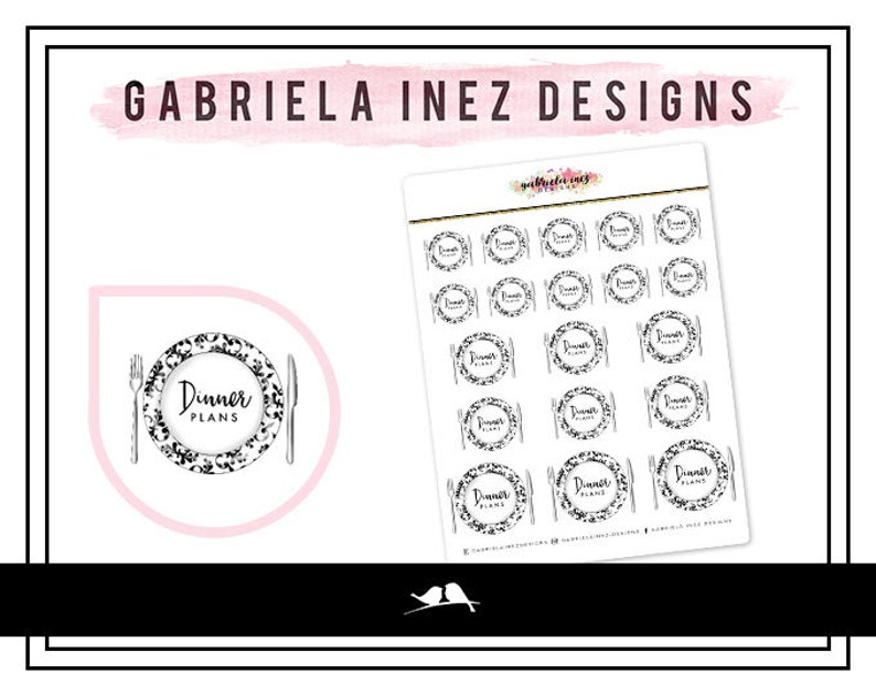 Dinner Plans Planner Stickers  Perfect for your Erin Condren image 0