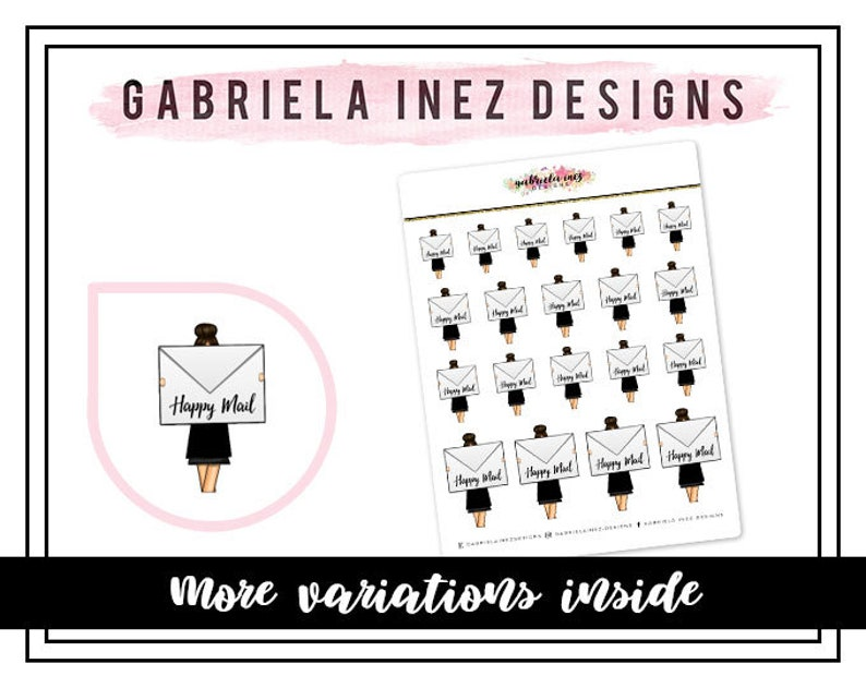 Happy Mail Vanna Planner Stickers  Perfect for your Erin image 0