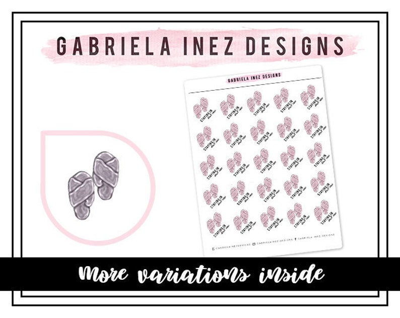 Fuzzy Slippers Planner Stickers Perfect for Erin Condren Life image 0