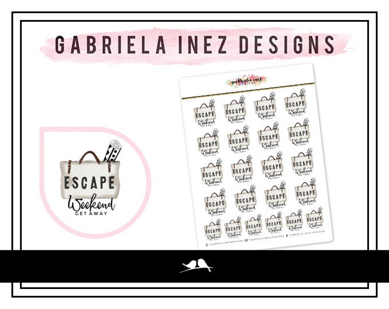 Vacation Weekender Bag Planner Stickers  Perfect for your image 0